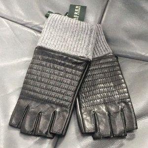 Ralph Lauren NWT woman's black gloves large